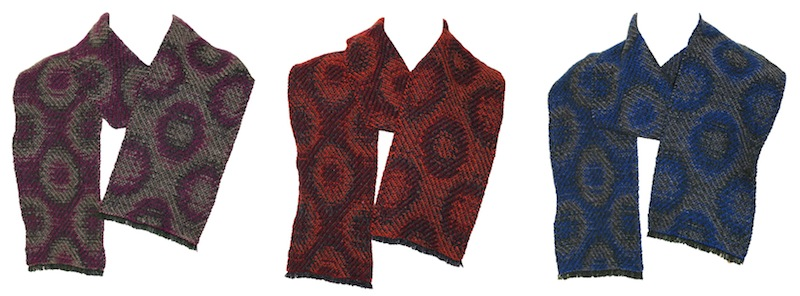 Three Wavelength scarves
